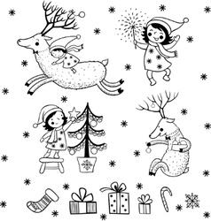 Christmas card with textbox vector