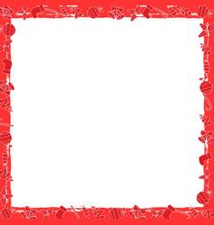 christmas flat style frame vector image