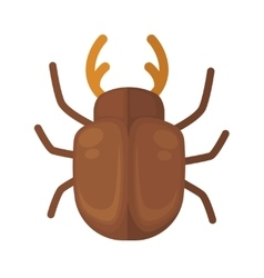cockchafer Icon of bright small insect vector image