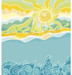 Decorative summer sea shore vector