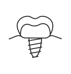 dental implant linear icon vector image