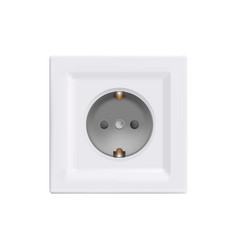 Electrical outlet - mock up template isolated on vector