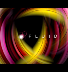 fluid smooth wave abstract background flowing vector image