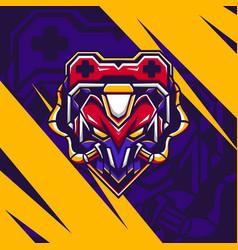 game bot mascot vector image