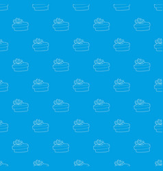 gift pattern seamless blue vector image