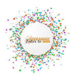 Giveaway competition button template vector