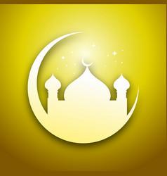 Golden eid mubarak graphic design vector
