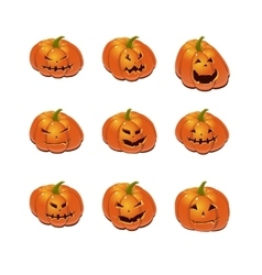 Halloween set with pumpkins vector