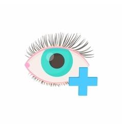 Hyperopia eyesight disorder icon cartoon style vector image