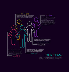 Infographic our team design vector