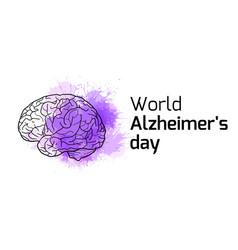 International alzheimers day horizontal card vector