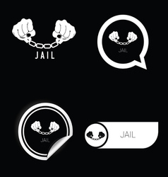 Jail icon black and white vector