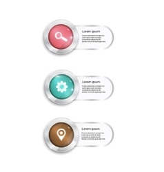 label set color buttons with glass surfise vector image
