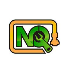 Letter nq pipe repair vector