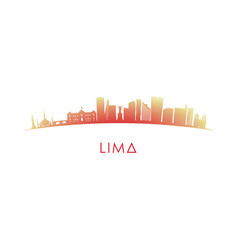 Lima skyline silhouette design colorful vector