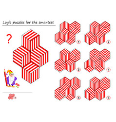 Logic puzzle game for smartest find template vector