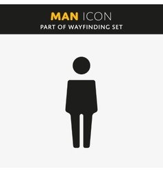 Man icon vector image