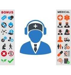 Medical Call Center Icon vector