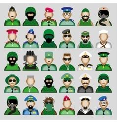 Military avatars vector