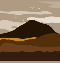mountain landscape with vector image