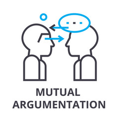 mutual argumentation thin line icon sign symbol vector image