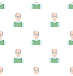 Old manold age single icon in cartoon style vector
