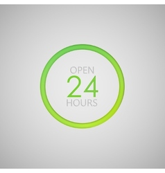 Open 24 hours a day icon neon sign vector