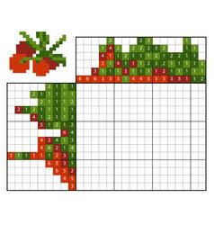 paint number puzzle nonogram cranberries vector image