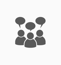 peoples brainstorming icon vector image