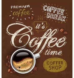 Poster cup of coffee vector