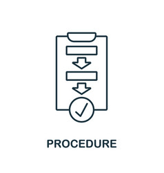 Procedure icon outline style thin line creative vector