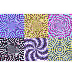 Psychedelic spiral optical delusion vector