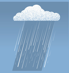 rain cloud vector image