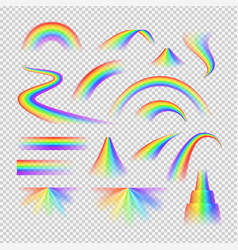 rainbow spectrum set vector image