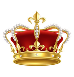 royal realistic crown luxury imperial monarchy vector image