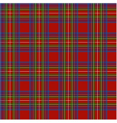 scottish cage red seamless pattern vector image