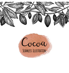 seamless cocoa vector image