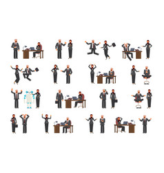 set of arabic business man and business woman vector image