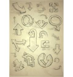 Set Of Hand Drawn Doodle Arrows vector