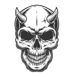 skull in vintage stule vector image