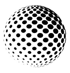 Sphere with a halftone pattern dotted orb design vector