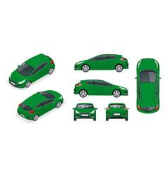 Sportcar or hatchback vehicle suv car set on vector