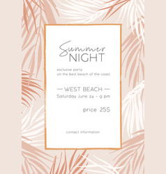 summer night poster template tropical vector image