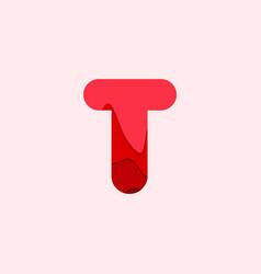 T blood font template design vector