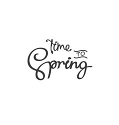 Time to spring vector