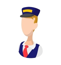 Train driver cartoon icon vector