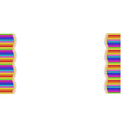 Vertical border made of multicolored wooden vector