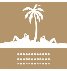 Women have a rest on a resort under a palm tree a vector