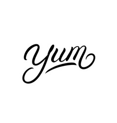 yum hand written lettering word vector image
