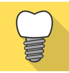 Dental implant icon vector image vector image